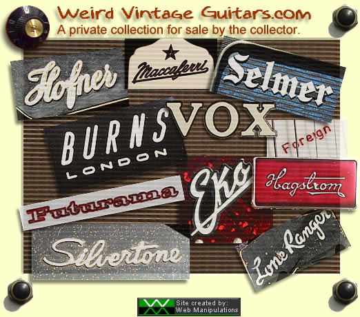 Enter Weird Vintage Guitars.com